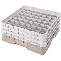 Cambro 49S1114184 Beige Camrack 49 Compartment 11 3/4 inch Glass Rack