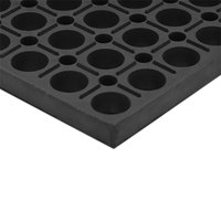 Cactus Mat 4420-CS VIP Duralok 3' x 5' Black Anti-Fatigue Anti-Slip Floor Mat - 3/4 inch Thick