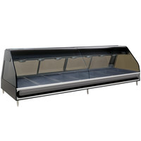 Alto-Shaam ED2-96/PR BK Black Heated Left Display Case with Curved Glass - Right Self Service 96 inch