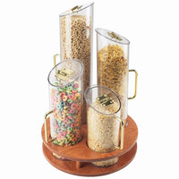 Cal-Mil 723-53 Four Bin Turntable Cereal Dispenser with Wooden Base
