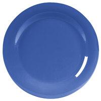 Carlisle 4301014 Durus 10 1/2 inch Ocean Blue Wide Rim Melamine Plate - 12/Case