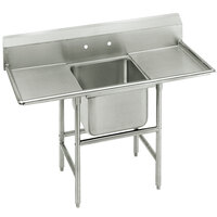 Advance Tabco 94-61-18-36RL Spec Line One Compartment Pot Sink with Two Drainboards - 92 inch