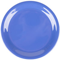 Carlisle 3300814 Sierrus 6 1/2 inch Ocean Blue Narrow Rim Melamine Pie Plate - 48/Case