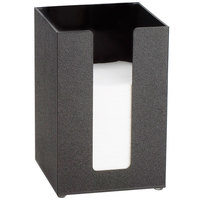 Cal-Mil 635-13 Black Acrylic Beverage Napkin Holder - 5 1/2 inch x 5 1/2 inch x 8 inch