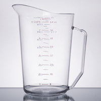 Cambro 200MCCW135 Camwear 2 Qt. Clear Measuring Cup