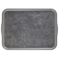 Cambro 1520VCRST381 20 inch x 15 inch Pearl Gray Non-Skid Room Service Camtray - 12 / Case