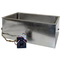 APW Wyott BM-80D Bottom Mount 12 inch x 20 inch Insulated High Performance Hot Food Well with Drain - 120V