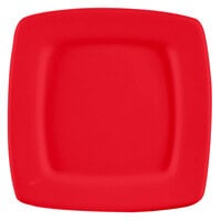 CAC R-S8QR Clinton Color 8 7/8 inch Red Square in Square Plate - 24/Case