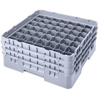 Cambro 49S800151 Soft Gray Camrack 49 Compartment 8 1/2 inch Glass Rack