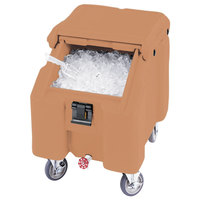 Cambro ICS100L157 Coffee Beige Sliding Lid Portable Ice Bin - 100 lb. Capacity