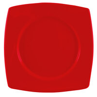 CAC R-SQ21R Clinton Color 11 7/8 inch Red Round in Square Plate - 12/Case