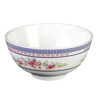 Rose 12 oz. Round Melamine Rice Bowl - 12/Case