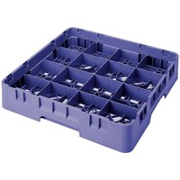 Cambro 16S900186 Camrack 9 3/8 inch High Navy Blue 16 Compartment Glass Rack