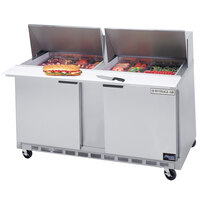 Beverage-Air SPE60-18M 60 inch Two Door Mega Top Refrigerated Salad / Sandwich Prep Table