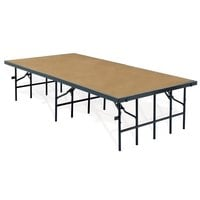 National Public Seating S4816HB Single Height Hardboard Portable Stage - 48 inch x 96 inch x 16 inch