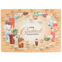 10 inch x 14 inch Cocktail Suggestions Design Paper Placemat - 1000/Case
