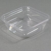 D&W Fine Pack SQ08WN 8 oz. Square PLA Biodegradable / Compostable Plastic Clear Corn Deli Container 500/Case