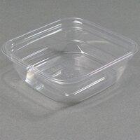D&W Fine Pack SQ08WN 8 oz. Square PLA Biodegradable / Compostable Plastic Clear Corn Deli Container 500/Case