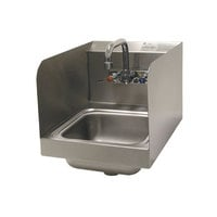 Advance Tabco 7-PS-56 Hand Sink with Side Splash Guards - 12 inch x 16 inch