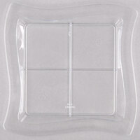 Fineline 6206-CL Tiny Temptations 7 1/4 inch x 7 1/4 inch Clear Disposable Plastic Tray - 120/Case