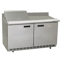 Delfield ST4464N-12M 64 inch Mega Top Salad Prep Refrigerator with Two Doors and Backsplash