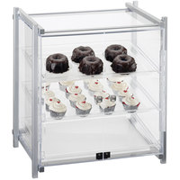 Cal-Mil 1143-S-74 One By One Three Tier Silver Display Case with Front Doors - 16 1/2 inch x 14 inch x 22 inch