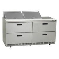 Delfield UCD4464N-12 64 inch Reduced Height Salad Prep Refrigerator with Four Drawers