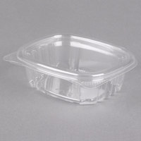 Genpak AD04 4 1/4 inch x 3 5/8 inch x 1 1/4 inch 4 oz. Clear Hinged Deli Container - 400/Case