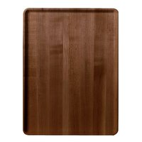 Cambro 1219D309 12 inch x 19 inch Java Teak Wood-Look Dietary Tray - 12/Case