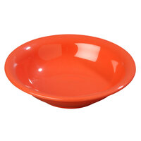 Carlisle 3303252 7 1/2 inch Sunset Orange Sierrus 16 oz. Rimmed Bowl - 24/Case