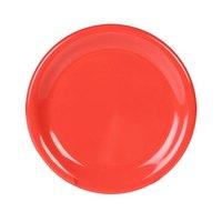 7 7/8 inch Orange Wide Rim Melamine Plate - 12/Pack