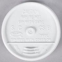 Dart 16UL White Plastic Sip Thru Lid - 100/Pack