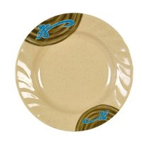 Thunder Group 1209J Wei 9 1/4 inch Round Melamine Curved Rim Plate - 12/Pack