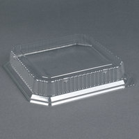 Genpak SQ90 10 inch Clear Square Dome Lid 200 / Case