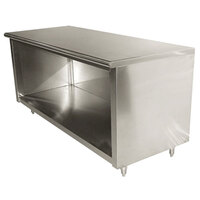 Advance Tabco EB-SS-366 36 inch x 72 inch 14 Gauge Open Front Cabinet Base Work Table