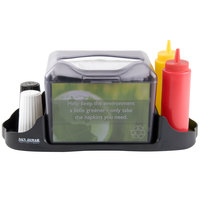 San Jamar H4005CTBK Venue Tabletop Fullfold Napkin Dispenser with Caddy