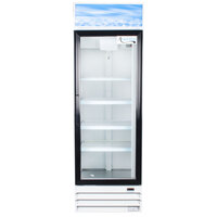 Avantco GDC15 26 inch Swing Glass Door White Merchandiser Refrigerator