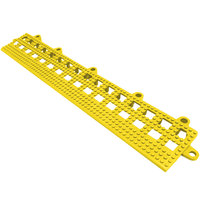 Cactus Mat 2554-YB Dri-Dek 2 inch x 12 inch Yellow Vinyl Interlocking Beveled Edge Drainage Floor Tile - 9/16 inch Thick