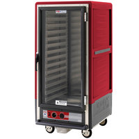 Metro C537-HFC-L C5 3 Series Heated Holding Cabinet with Clear Door - Red