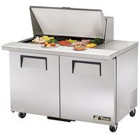 True TSSU-48-15M-B 48 inch Mega Top Two Door Sandwich / Salad Prep Refrigerator