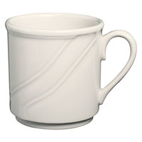 Homer Laughlin American White (Ivory / Eggshell) Lyrica 8.25 oz. China Mug - 36/Case