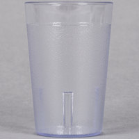 8 oz. Clear Pebbled Plastic Tumbler   - 12/Pack