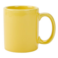 Tuxton BSM-1202 DuraTux Saffron 12 oz. China C-Handle Mug 24/Case