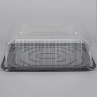 D&W Fine Pack G85 1/4 Size 2-3 Layer Sheet Cake Display Container with Clear Dome Lid - 50 / Case