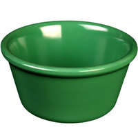 Green 4 oz. Smooth Melamine Ramekin - 48/Case