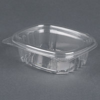 Genpak AD04 4 1/4 inch x 3 5/8 inch x 1 1/4 inch 4 oz. Clear Hinged Deli Container - 100 / Pack
