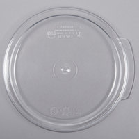 Cambro RFSCWC1135 1 Qt. Clear Round Lid for Clear Camwear Containers