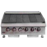 APW Wyott HCB-2448 Heavy Duty Cookline Radiant 48 inch Charbroiler - 160,000 BTU