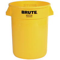 Rubbermaid Brute FG261000YEL Yellow 10 Gallon Trash Can
