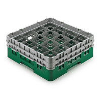Cambro 16S958-119 Camrack 10 1/8 inch High Green 16 Compartment Glass Rack